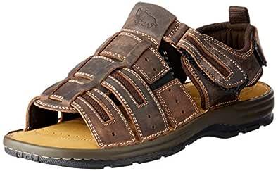 Wild Rhino Men's Dubbo Shoes, Brown (Dark Tan), 11 AU
