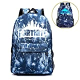 School Backpack Laptop Backpack, Fortnite Backpack Night Luminous Boys Girls Backpack for Travel, Shopping, School, Student(Lightening-Blue)