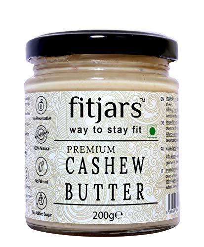 FITJARS All Natural Premium Cashew Butter(Kaju)-200 Ge Stone Ground Gourmet Food
