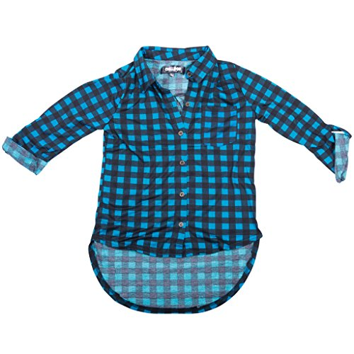 393282-tealpearl-2t-girls-checkered-shirt-tunic-toddlers-little-big-girls