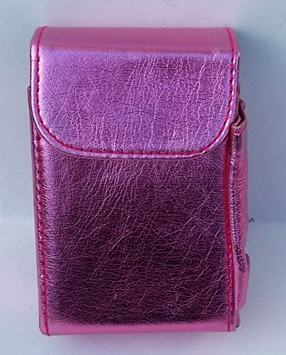 (Vinyl Cigarette Case with Lighter Holder and Belt Loop (Metalic Pink))