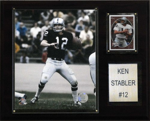 NFL Ken Stabler Oakland Raiders Player Plaque