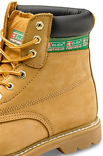 Click Goodyear Welted Safety Work Boot Nubuck Size 11