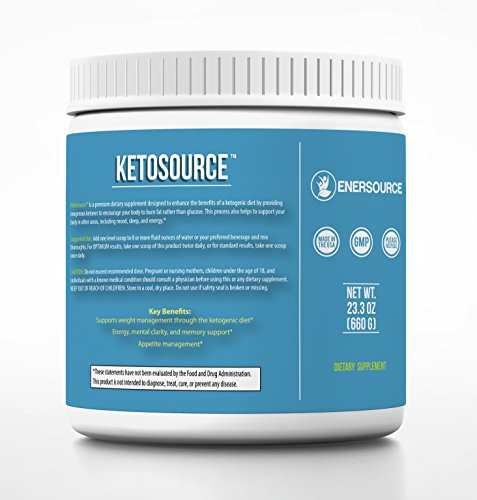 Keto Source, Premier Ketosis Product, Exogenous Ketones Beta-Hydroxybutyrate BHB, Medium Chain Triglyceride MCT Oil, 23.3 Ounces 660 Grams , Island Tropics Flavor