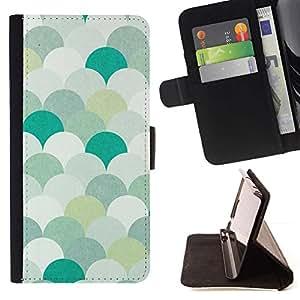 For LG Nexus 5 D820 D821 Case , Patrón trullo Verde Blanco Pastel- la tarjeta de Crédito Slots PU Funda de cuero Monedero caso cubierta de piel