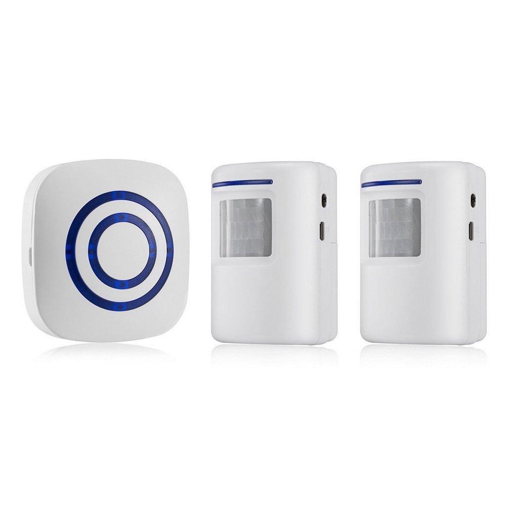 OWSOO Timbre Inalámbrico con 1 Transmisor 2 Receptor Sensor de Movimiento Infrarrojo PIR Alarma de Inducción Timbre de Bienvenida: Amazon.es: Bricolaje y ...