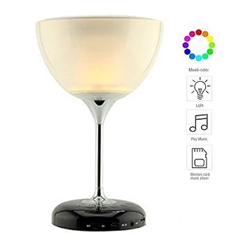 Bluetooth LED Noche Forma LKJCZ en 1 de luz Copa Vino de 2 mw8ONv0n