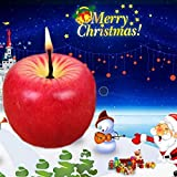 TtMarket Lovely Cute Design Red Apple Shape Fruit Scented Candle Home Decoration