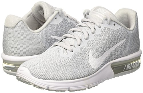 Zapatillas De Running Nike Mujeres Air Max Sequent 2 Pure Platinum / White-wolf Grey