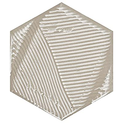 "SomerTile FCD10GBX Mezzo Hex Porcelain Floor and Wall Tile, 8.625"" x 9.875"", Black, 25"
