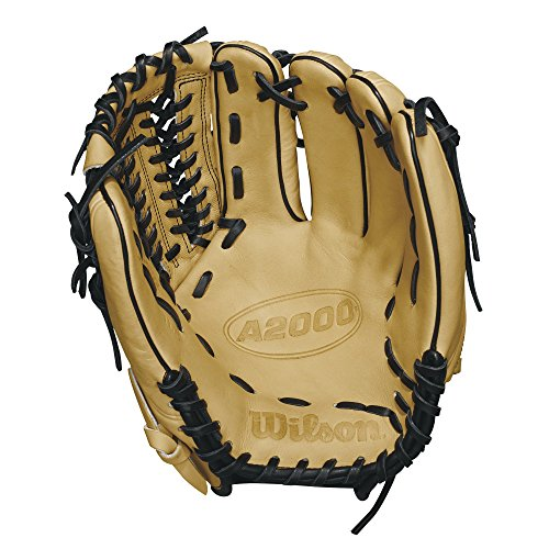 Wilson 2018 A2000 D33 Pitcher's Gloves - Right Hand Throw Blondeblack, 11.75""