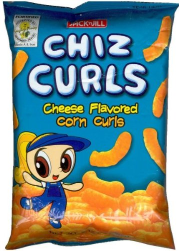 Jack n Jill Chiz curls cheese flavored 55g by Chiz Curls (Image #1)