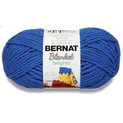 Bernat Blanket Bright Yarn, Royal Blue