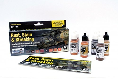 Vallejo Rust, Stain and Streaking Set Paint Set