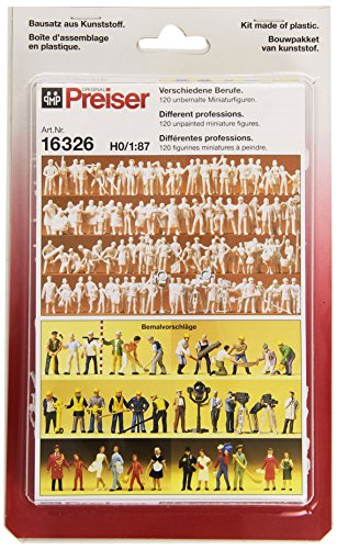 - Preiser 16326 Unpainted Figure Set Tradespeople Package(120) HO Model Figure