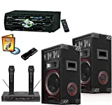 Professional Home Karaoke System Digital CDG DVD Player Free Music Speakers Mics