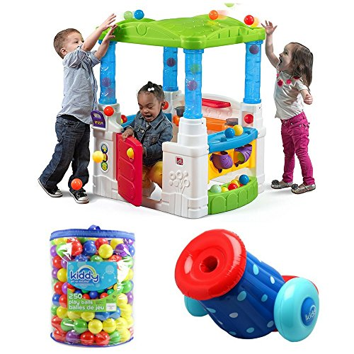 Kids Wonderball Fun House With Balls, Frying Pan & Boiling Pot, Kiddy Up 250 Count Pit Balls & Pit Ball Cannon Blaster, Step2, Kids Outdoor Playhouse, Pit Balls, Kids Sports, - Fun Balls Playhouse
