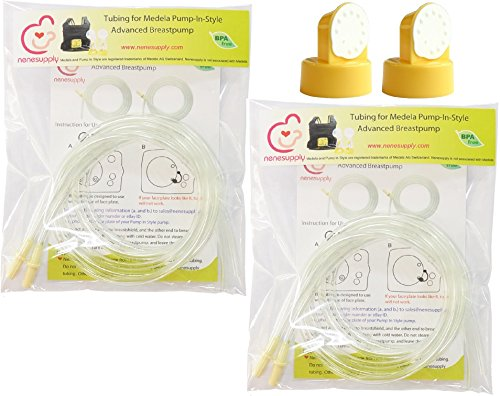 Tubing 4 Tubes 2 Valves and 2 Membranes for Medela Pump In Style Advanced Breast Pump Released after July 2006 Replace Medela Tubing Medela Membrane and Medela Valve Not Original Medela Pump Parts