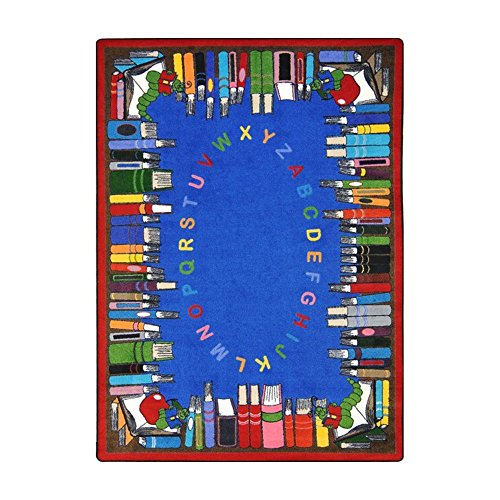 "Joy Carpets Kid Essentials Language & Literacy Read and Learn Rug, Multicolored, 5'4"" x 7'8"" from Joy Carpets"