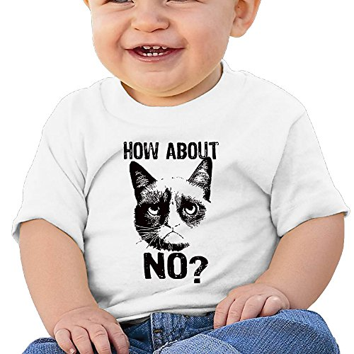 How About No 6 - 24 Months Baby T-shirts Round Neck Shirt White