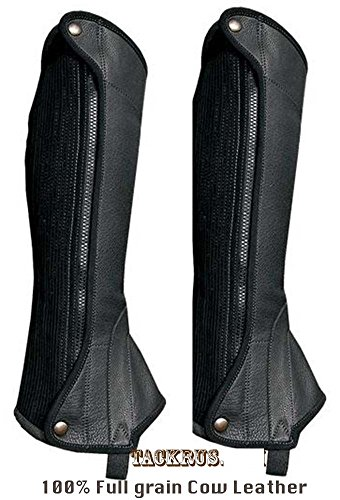 Medium Horse English Riding ADULT HALF CHAPS Full Grain Cowhide Leather 924F02