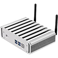 XCY Mini PC 5th Gen CPU Intel Core i7 5500U With Windows 10 Fanless PC With 8G RAM, 64G SSD And 500G HDD, 2.4GHz, Dual core Four Threads VGA+HDMI+LAN