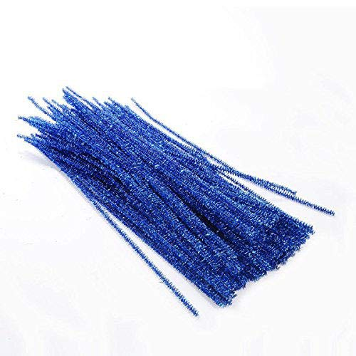 Saim 12 Inch Creative Glitter Sparkle Arts Stems Pipe Cleaners for DIY Craft, 100 Pcs