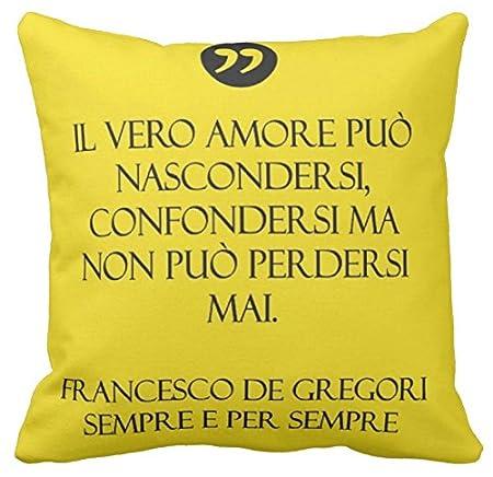 Frasi Canzoni Francesco De Gregori.Pillow Pillow Cuscino Personalizzato 40x40 Frase Canzone Francesco