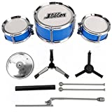 3-Piece Kids Drum Set Children Junior Drums Kit Percussion Musical Instrument
