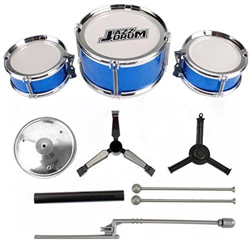 3-Piece Kids Drum Set Children Junior Drums Kit Percussion Musical Instrument by CLKjdz