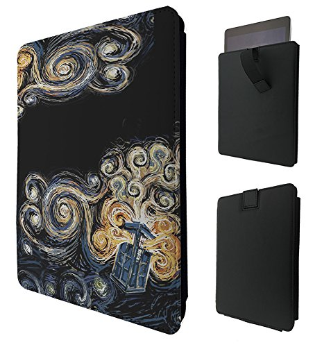 452 - Doctor Who Tardis Van Gogh Canvas For All Amazon Kindle Fire Hd 7