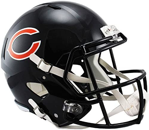 Amazon Com Riddell Chicago Bears Officially Licensed Speed Full Size Replica Football Helmet Sports Outdoors