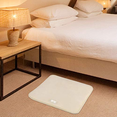 AMEOY Soft Carpet Alarm Clock LED Smart Digital Display Pressure Sensitive Area Rug 40x40cm for Home Bedroom Creative Carpet