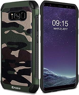 Epxee Funda Samsung Galaxy S8 Plus, Silicona [Shock-Absorción] Case Carcasa para Samsung Galaxy S8 Plus (Camuflado-001)
