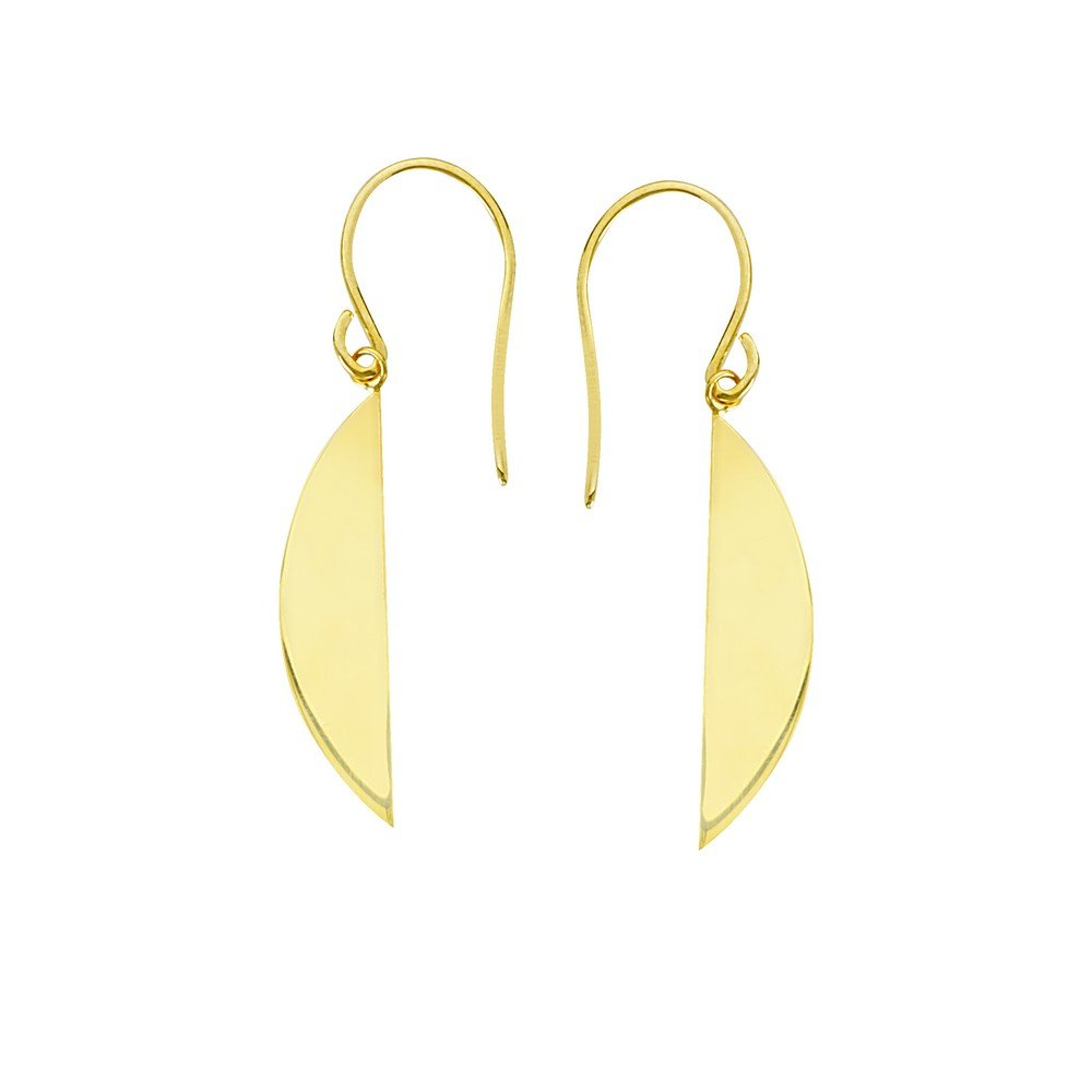 14k Yellow Gold Eclipse Earrings With Euro Wires