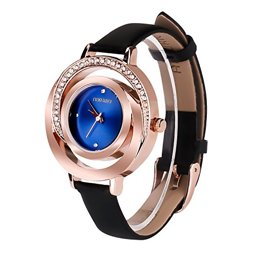 Women Ladies Wrist Watch Waterproof Design with Alloy Case Leather Strap and...