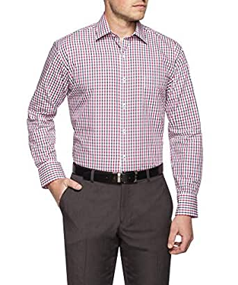 Van Heusen Classic Relaxed Fit Business Shirt, Red, 38 86