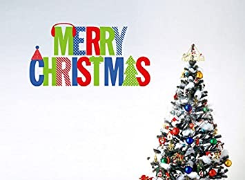 Merry Christmas Words Holiday Sign Home Decor Vinyl Wall Sticker,Christmas  Tree And Christmas Gifts Part 97