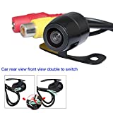 Universal Waterproof Night Vision Vehicle Backup Camera CCD Car Rear View Camera Front View Double To Switch Car Camera with 170'' Wide view Angle