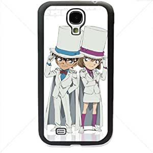 Detective Conan Manga Anime Comic Samsung Galaxy S4 SIV I9500 TPU Soft Black or White case (Black)