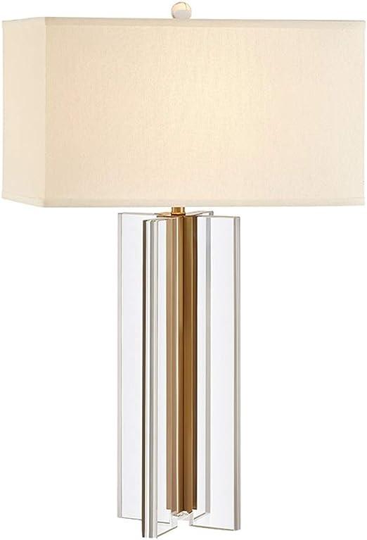 Lámpara de Noche Moderna China Cruzada de Cristal Dorado, Pantalla ...