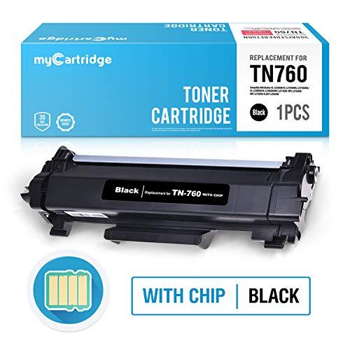 myCartridge Compatible Toner Cartridge Replacement Brother TN760 TN-760 TN730 TN-730 (1 Black) CHIP