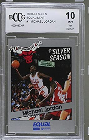 fab935bfc02c8 Amazon.com: Michael Jordan BCCG GRADED 10 (Basketball Card) 1990-91 ...