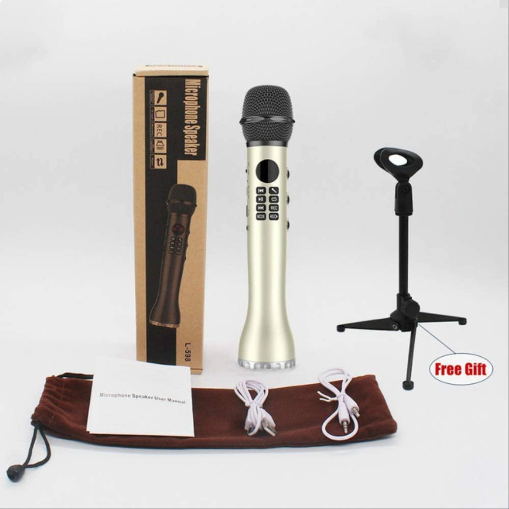 RRYM Micrófonos Bluetooth De Mano K Canción Micrófono Inalámbrico ...