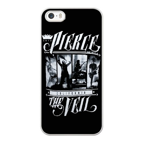 Coque,Apple Coque iphone 5/5S/SE Case Coque, Generic Pierce The Veil Merch Cover Case Cover for Coque iphone 5 5S SE blanc Hard Plastic Phone Case Cover