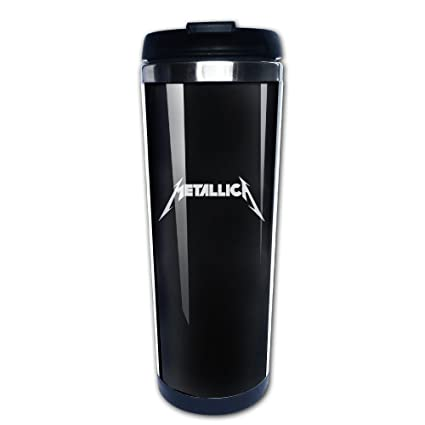 lizizz Metallica Logo taza/termo de café y termo de acero ...