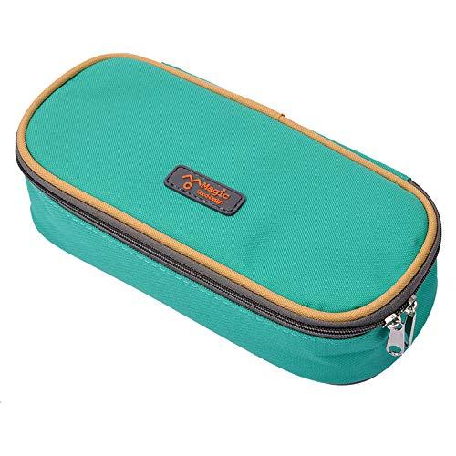 eZAKKA Pencil Case, Student Pen Pencil Case Desktop Office Storage Organizer Pen Pencil Holder Organizer Basket Coin Purse Pouch Cosmetic Makeup Bag ()