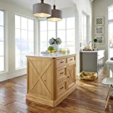 kitchen with island Home Styles  Country Lodge Kitchen Island, Pine