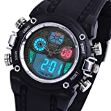 AMPM24 Oshen Military Dual Time Digital Diver Alarm Mens Sport Rubber Watch OHS013, Watch Central