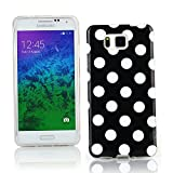 Kit Me Out CAN TPU Gel Case for Samsung Galaxy Alpha G850F - Black / White Polka Dots